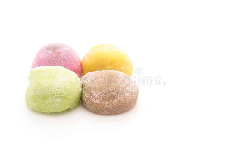 Mochi del dessert su bianco fotografia stock libera da diritti