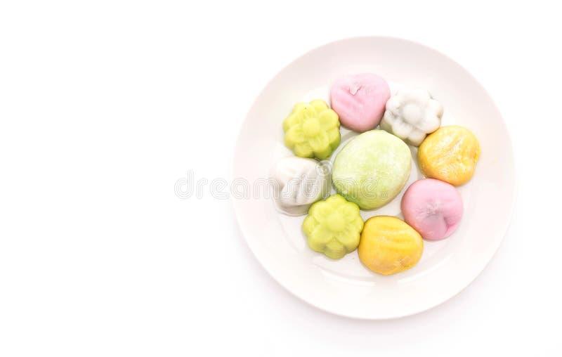 Mochi del dessert su bianco fotografie stock