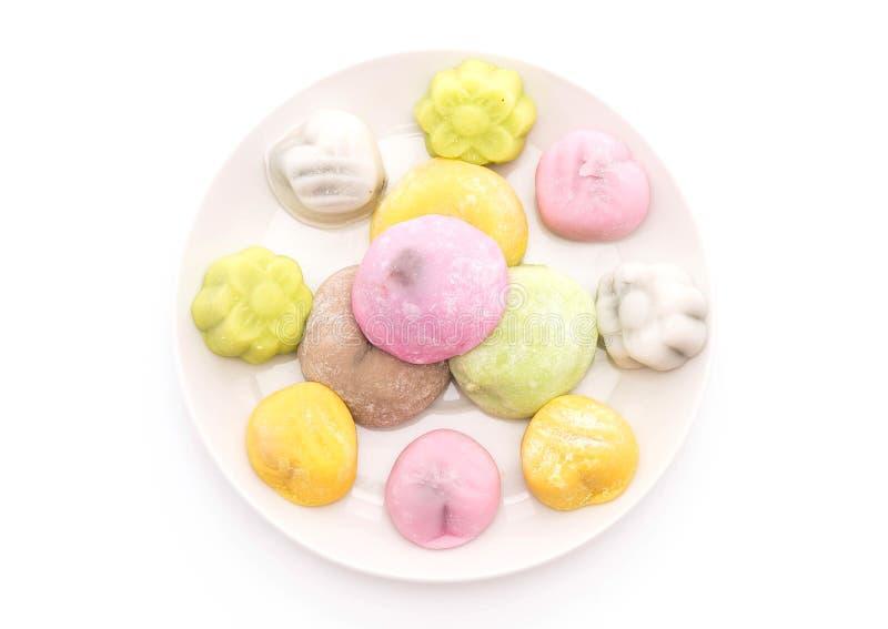 Mochi del dessert su bianco immagini stock