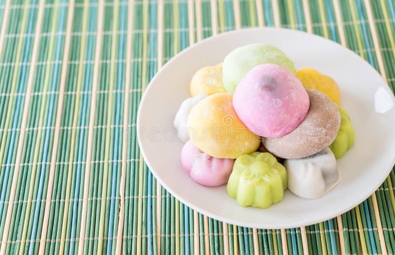 mochi variopinto del dessert immagine stock