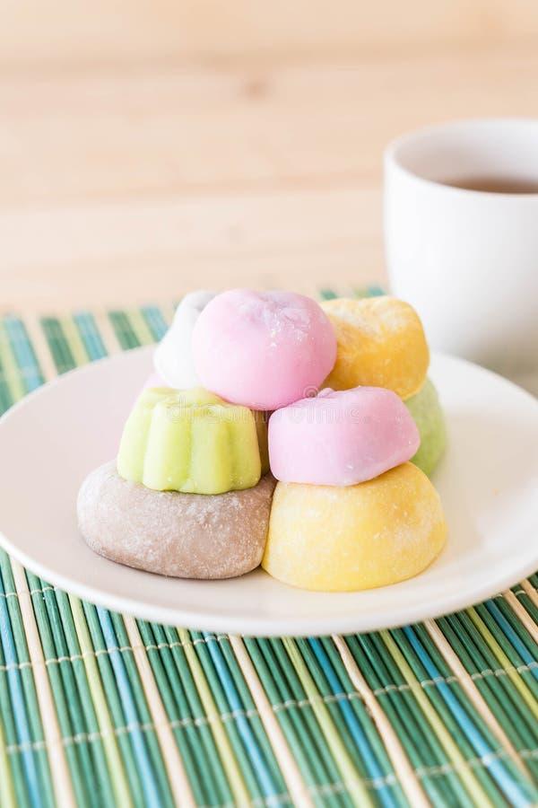 mochi variopinto del dessert fotografie stock libere da diritti