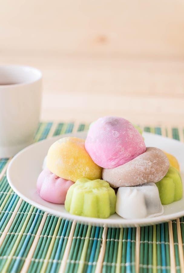 mochi variopinto del dessert fotografie stock