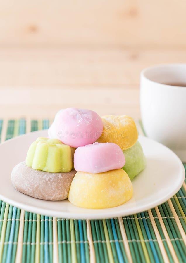 mochi variopinto del dessert immagini stock libere da diritti