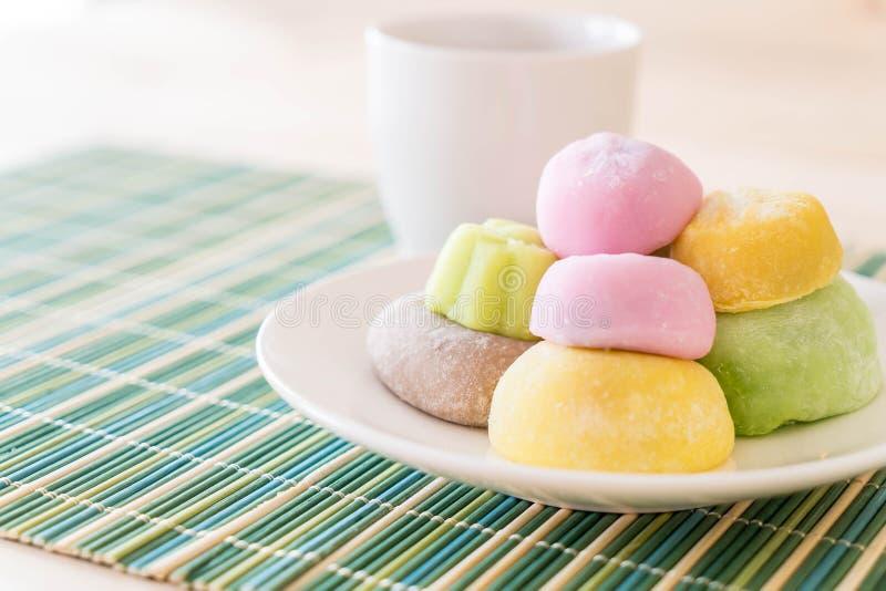 mochi variopinto del dessert fotografia stock libera da diritti