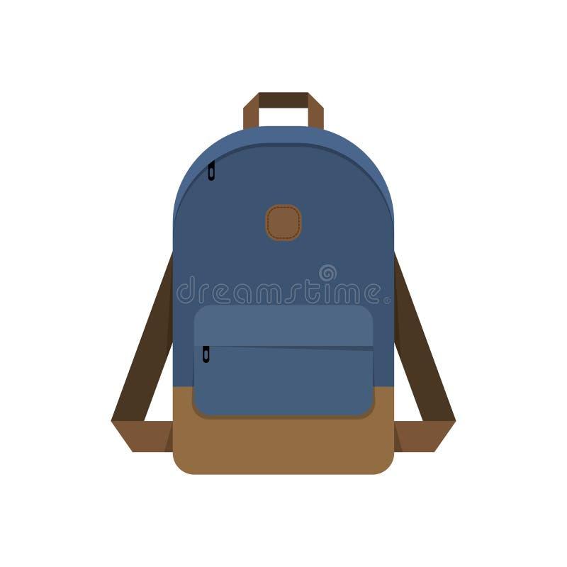 Mochila, bolso de escuela stock de ilustración
