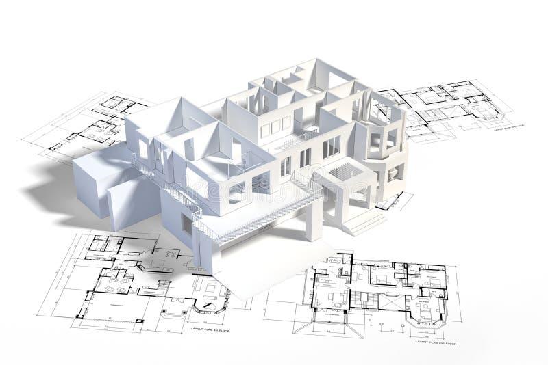 mock дома вверх иллюстрация вектора