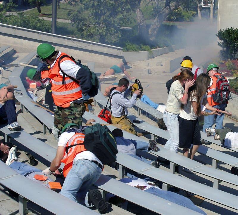Mock Community Disaster exercise stock photo