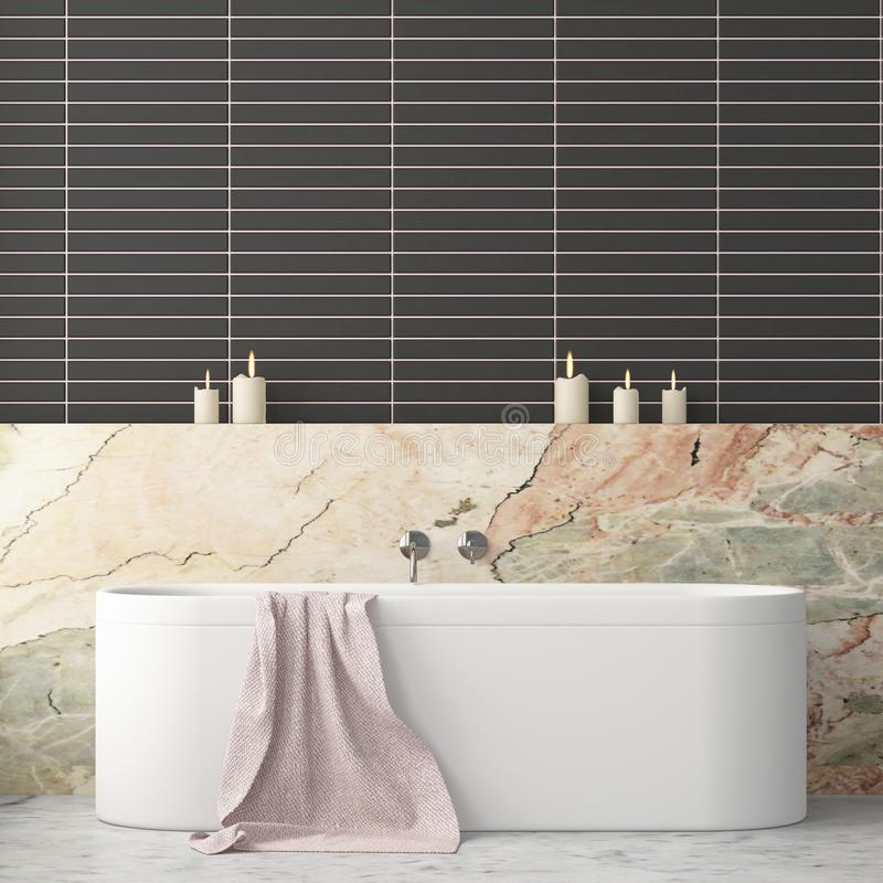 Free Mock Up Bathroom In A Modern Style 3d Stock Photos - 113325483
