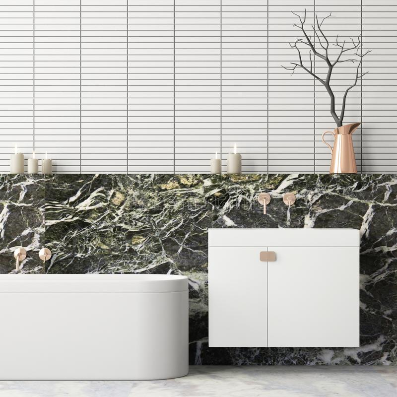 Free Mock Up Bathroom In A Modern Style 3d Stock Photo - 113325790