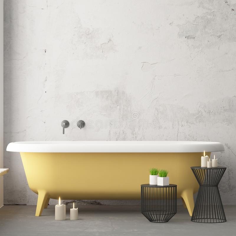 Free Mock Up Bathroom In A Modern Style 3d Stock Image - 113376581