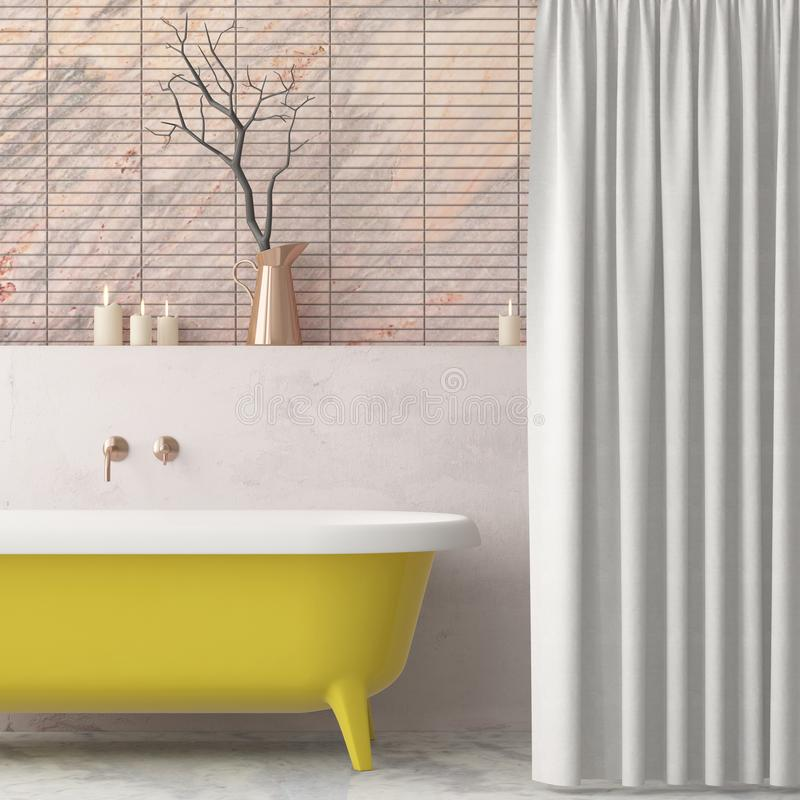 Free Mock Up Bathroom In A Modern Style 3d Stock Photos - 113376633