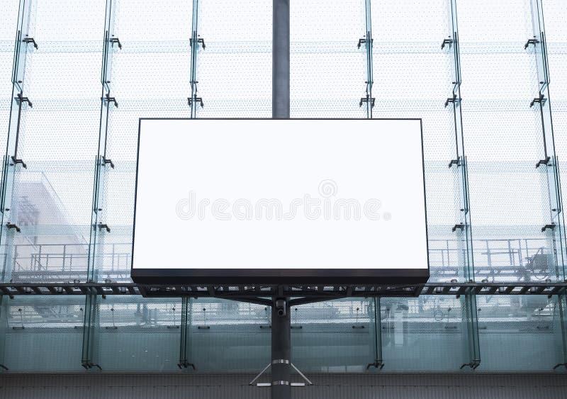 Mock up Billboard Banner Advertisement Media Display Building exterior. Mock up Billboard Banner Advertisement outdoor Media Display Building exterior stock images
