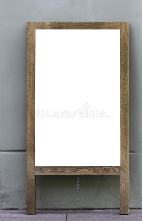 Mock up. Blackboard blank menu frame of cafe, bar, restaurant royalty free stock photos