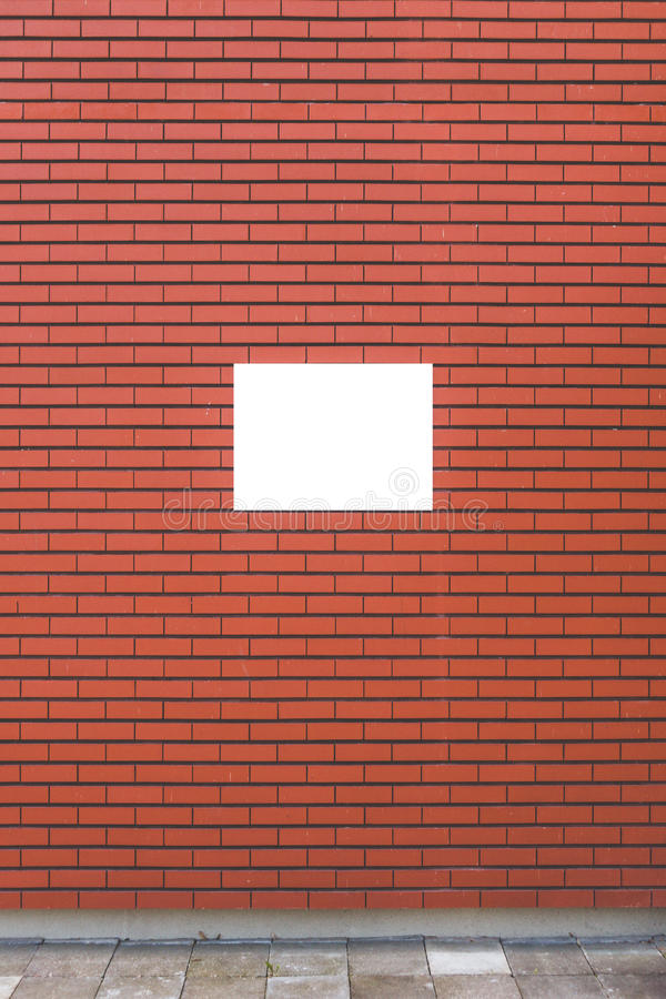 Mock up. Blank billboard outdoors, poster frame, outdoor advertising on the brick wall. Mock up. Blank billboard outdoors, poster frame, outdoor advertising on stock photos