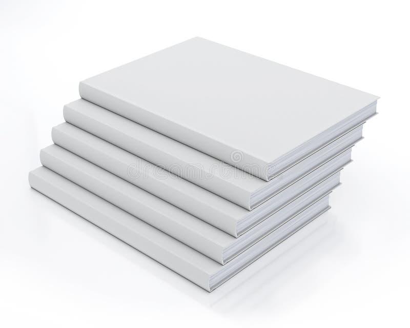 Mock up blank books, isolated on white background royalty free illustration