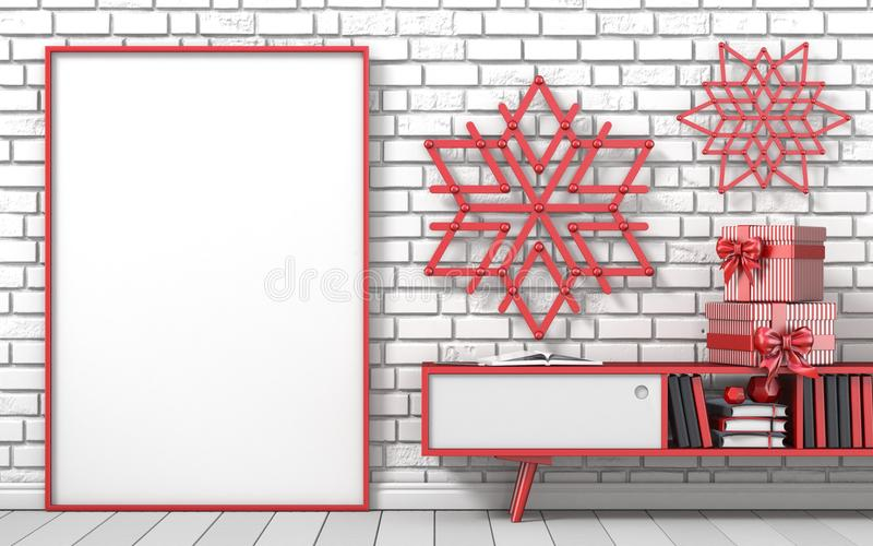 Mock Up Blank Picture Frame, Christmas Decoration Popsicle Stick ...