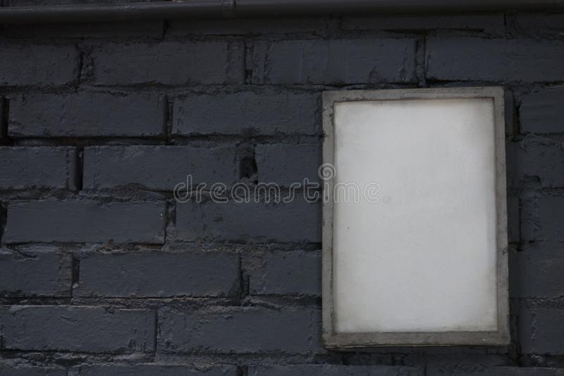 Mock up blank poster picture frame stock photography
