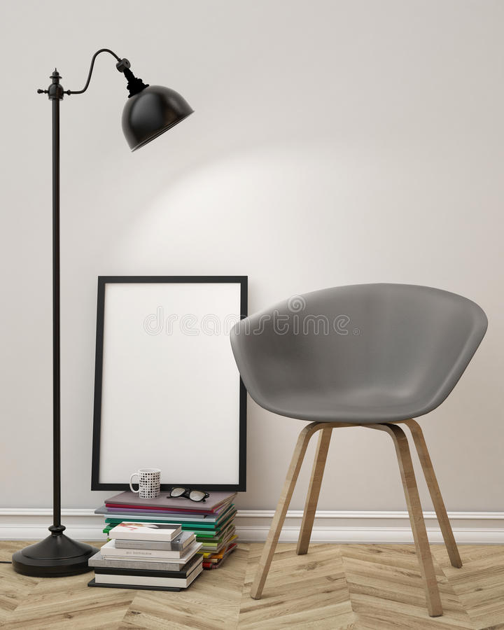 Mock Up Blank Poster On The Wall Of Living Room Background Stock Illustration Image 47002492