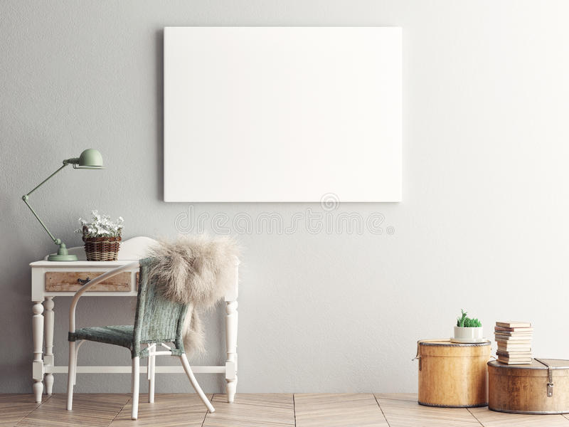 blank living room wall mock up blank poster on the wall of living room stock 16378