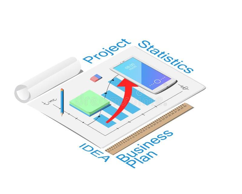 Mock up Business strategy royalty free illustration
