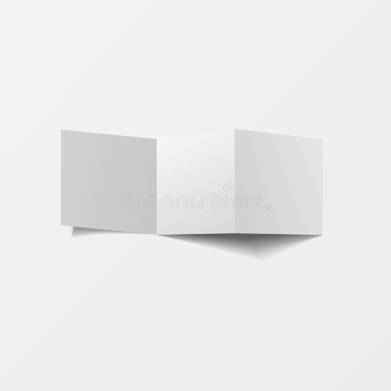 Mock up 3d leaflet blank. Top view. For brochure, leaflet, pamphlet, handbill design, catalog template, magazine layout, printing. Template. White color with royalty free illustration