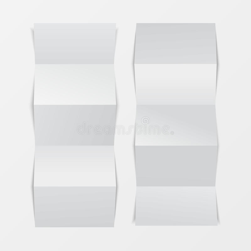Mock up 3d leaflet blank. Top view. For brochure, leaflet, pamphlet, handbill design, catalog template, magazine layout, printing. Template. White color with vector illustration