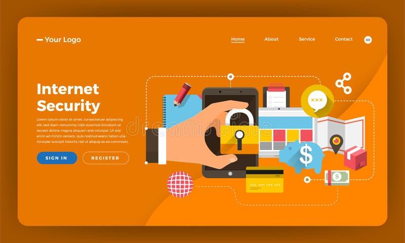 Mock-up design website flat design concept digital marketing. In stock illustration
