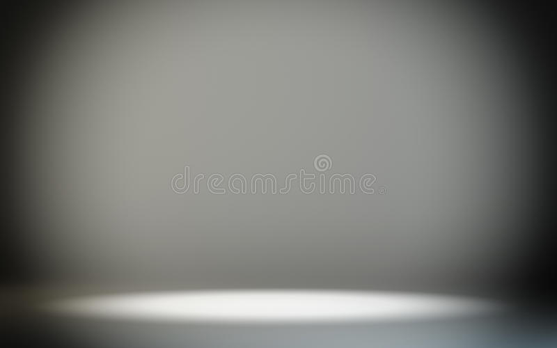 Mock-up empty room. Gradient background. With space for your text and ptoduct. 3d rendering. Empty trade showroom stock illustration