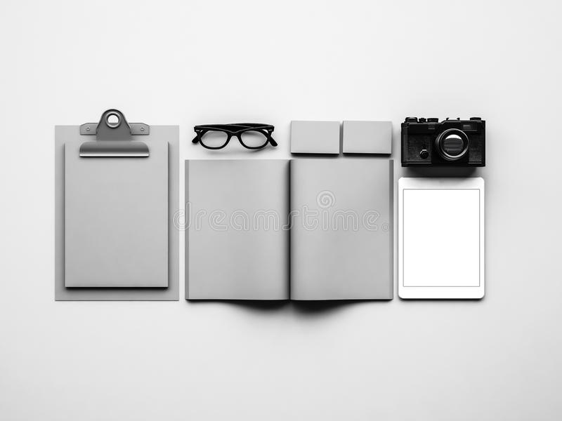 Download Mock Up Of Grey Classic Elements On The White Stock Photo   Image  Of Black