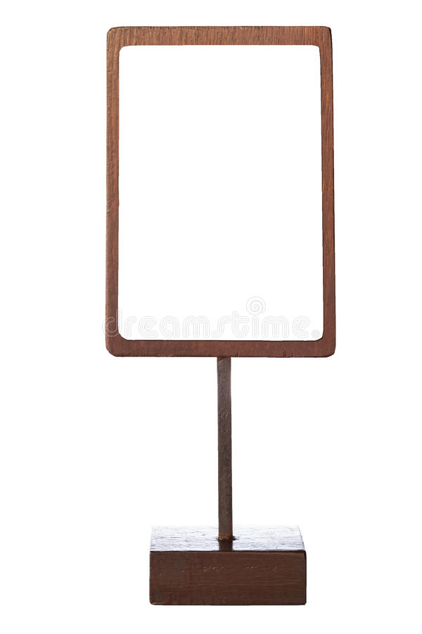 Free Mock Up Menu Frame Template Sign Wooden Stand Isolated Royalty Free Stock Photos - 55802128