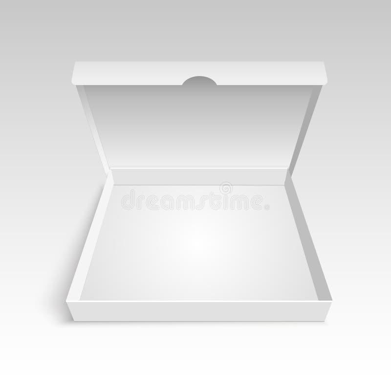 Mock up pizza box packaging template. Vector illustration vector illustration