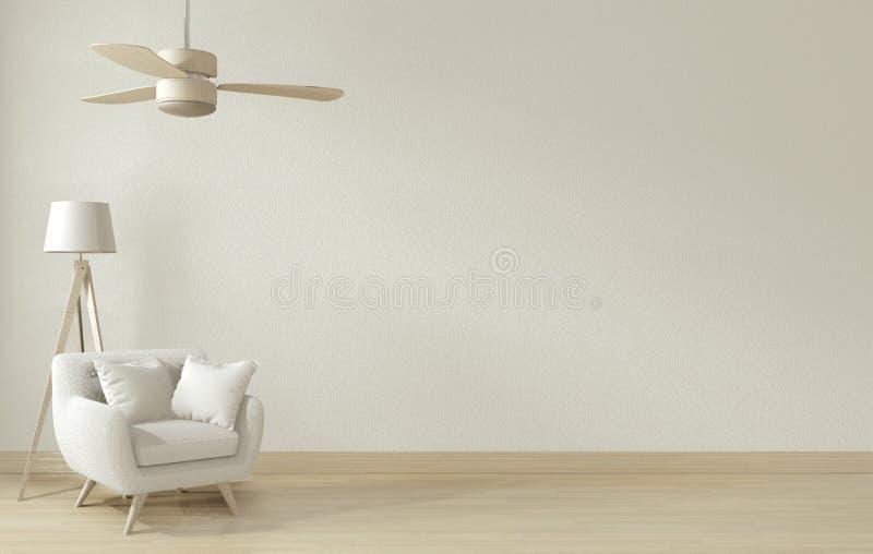 Mock up - Mock up poster frame and white sofa on white living room interior.3D rendering stock illustration