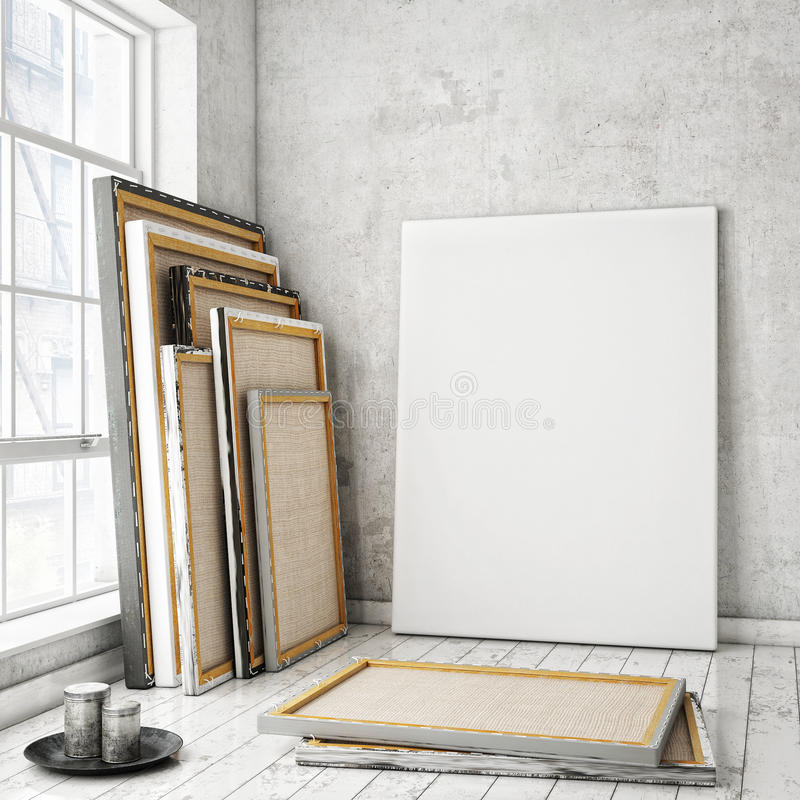 Free Mock Up Posters Frames Stock Images - 55096804