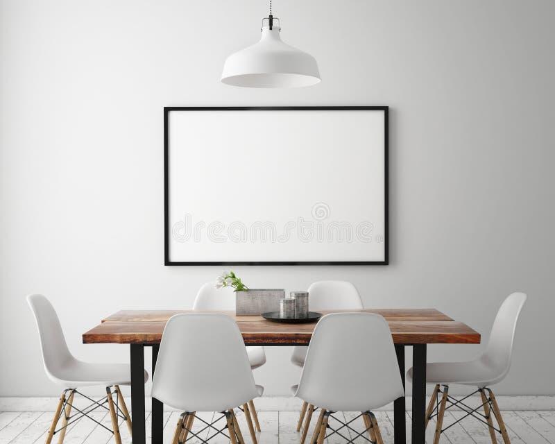 Mock up posters frames stock illustration. Illustration of ...