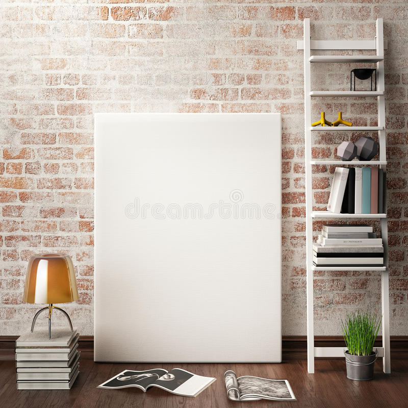 Mock up posters frames royalty free illustration
