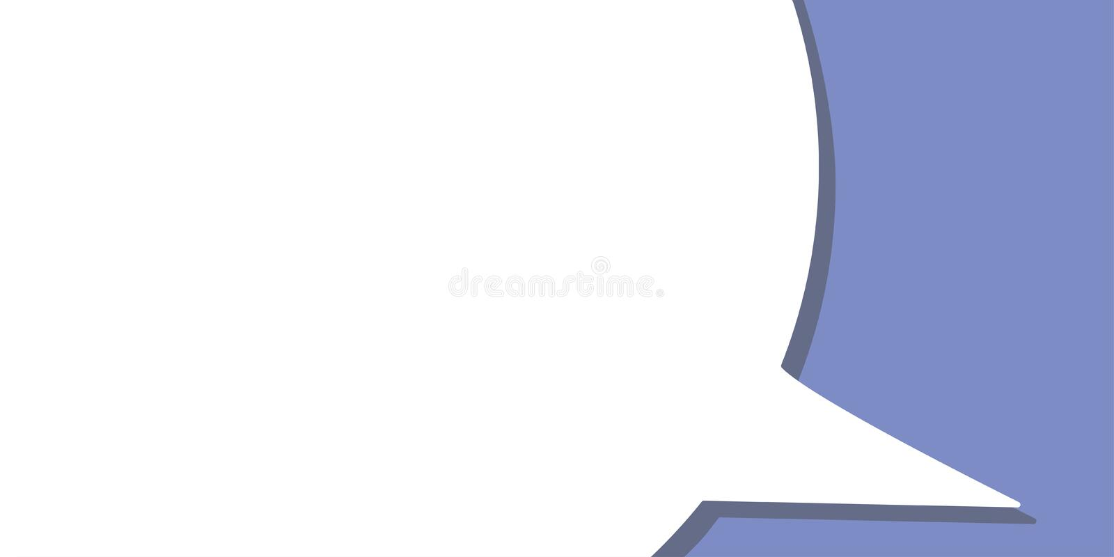Mock up speech bubble for banner advertisement stock illustration