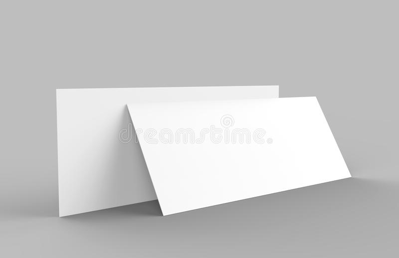 Mock Up Template Blank Empty Gift Voucher Card On The Grey ...