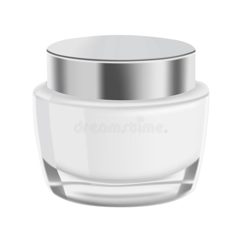Mock up, template glass jar with cream for design. stock illustration