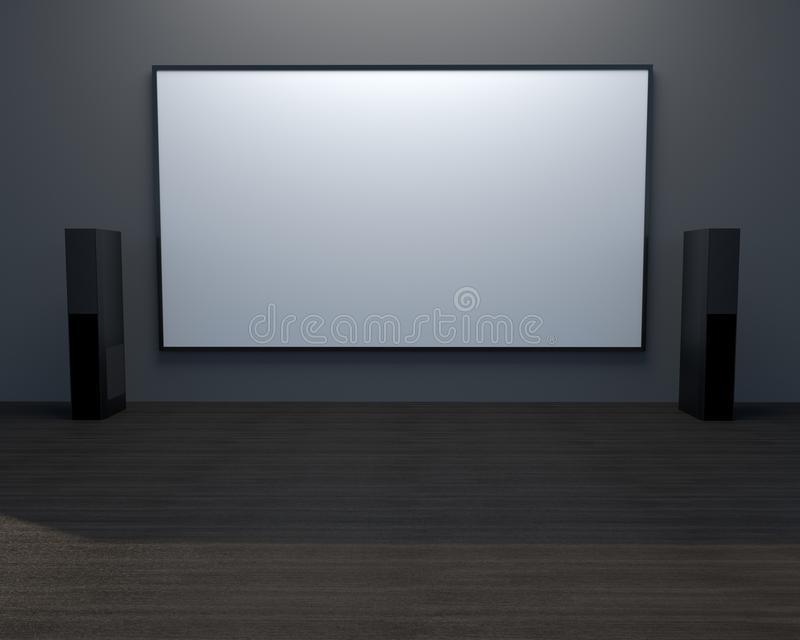 3D rendering mock up TV. stock illustration