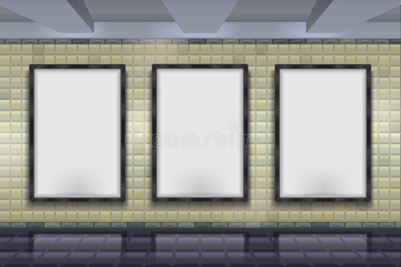 Mock up Vector subway wall. royalty free illustration