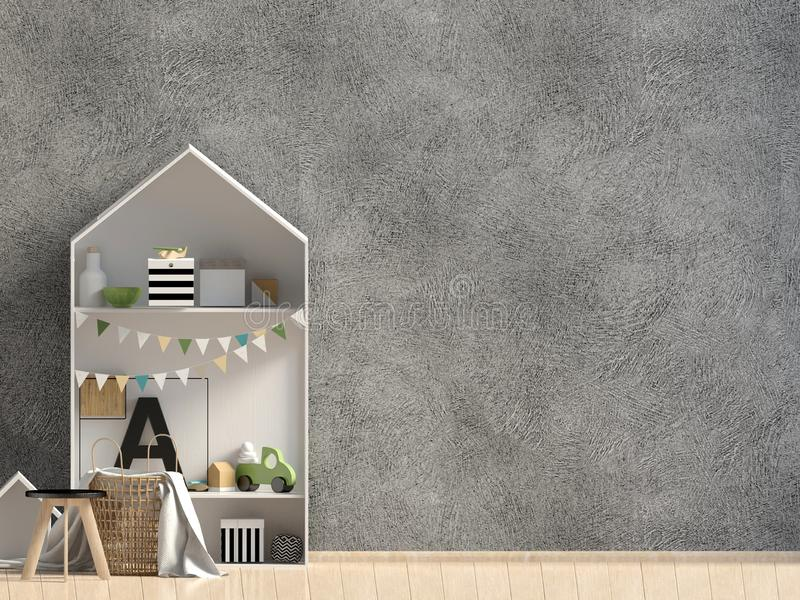 Mock up wall in interior of the child. modern style. vector illustration