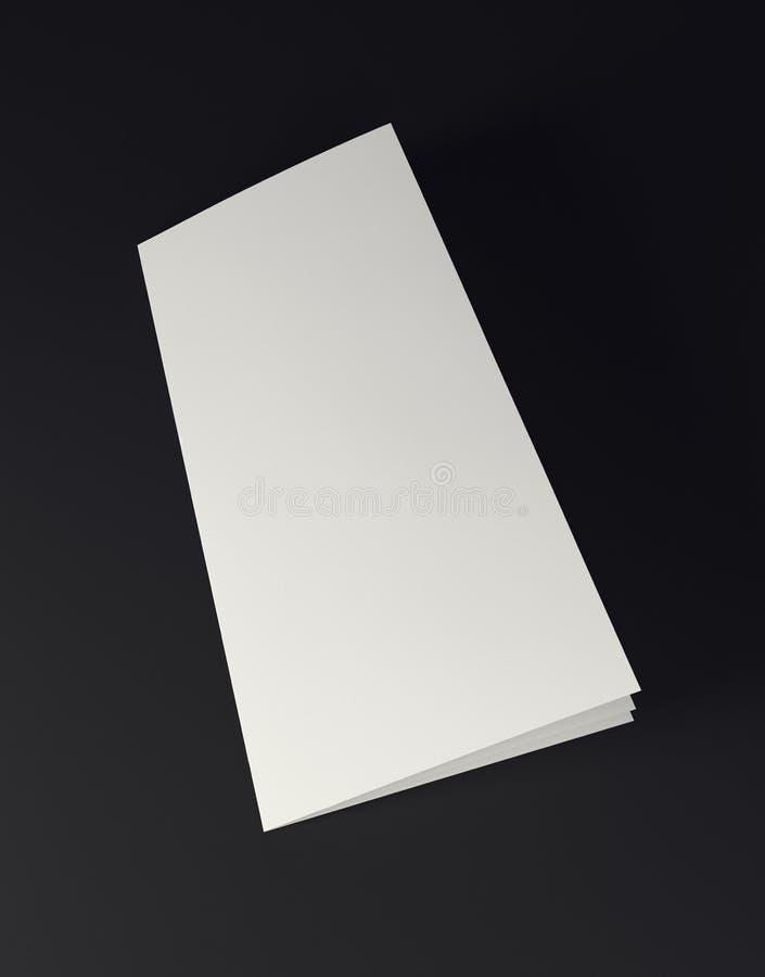 Mock up white folded paper on black background. Close up vector illustration