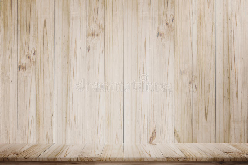 Mock up wooden table perspective view. stock images