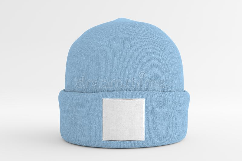 Mock up of wool beanie. View of a Mock up of wool beanie stock image