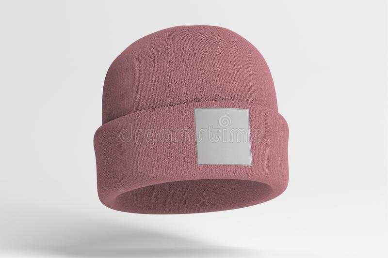 Mock up of wool beanie. View of a Mock up of wool beanie royalty free stock image