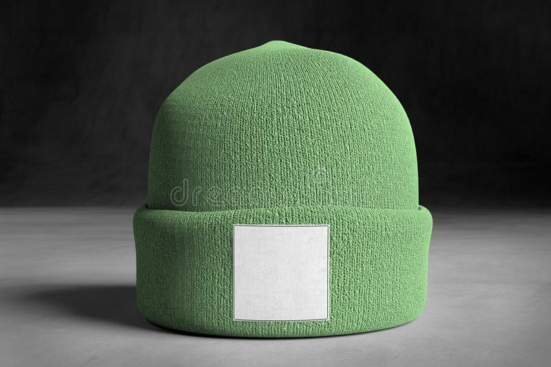 Mock up of wool beanie. View of a Mock up of wool beanie royalty free stock photography