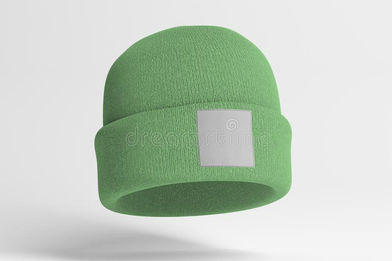 Mock up of wool beanie. View of a Mock up of wool beanie royalty free stock photos
