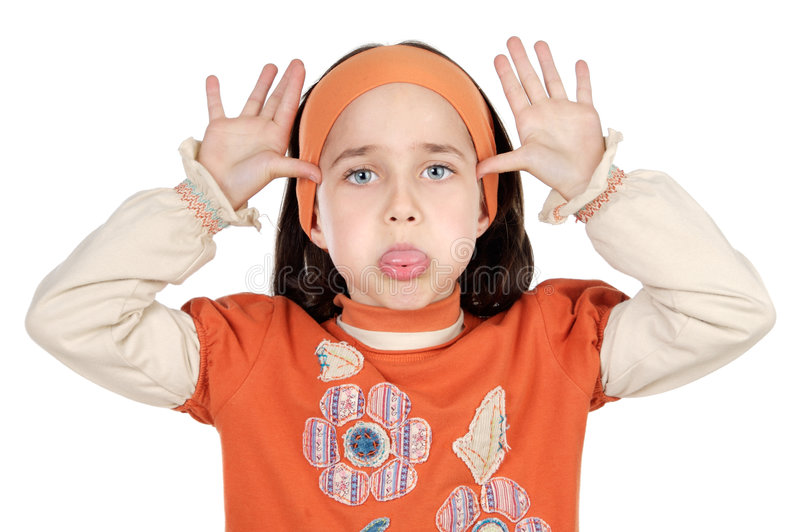 Download Mocking girl stock image. Image of girls, children, girl - 2478789