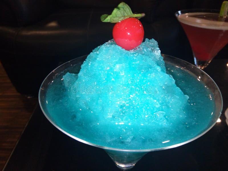 Mocktail azul del agolpamiento fotos de archivo