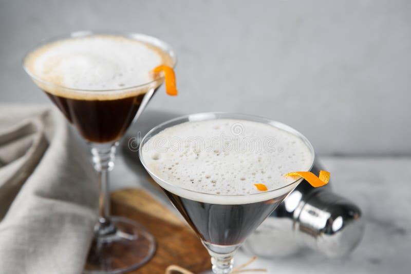 Mocktail negro del matrini del carbón de leña fotos de archivo